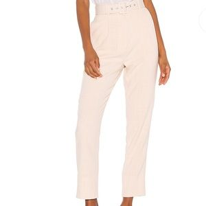 REVOLVE- Lane Pant in Beige Check Song of Style